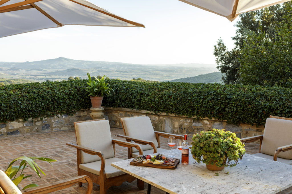 Chiesina private terrace
