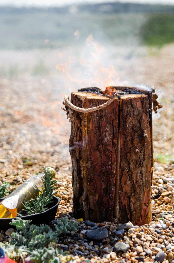 A 'portable' campfire