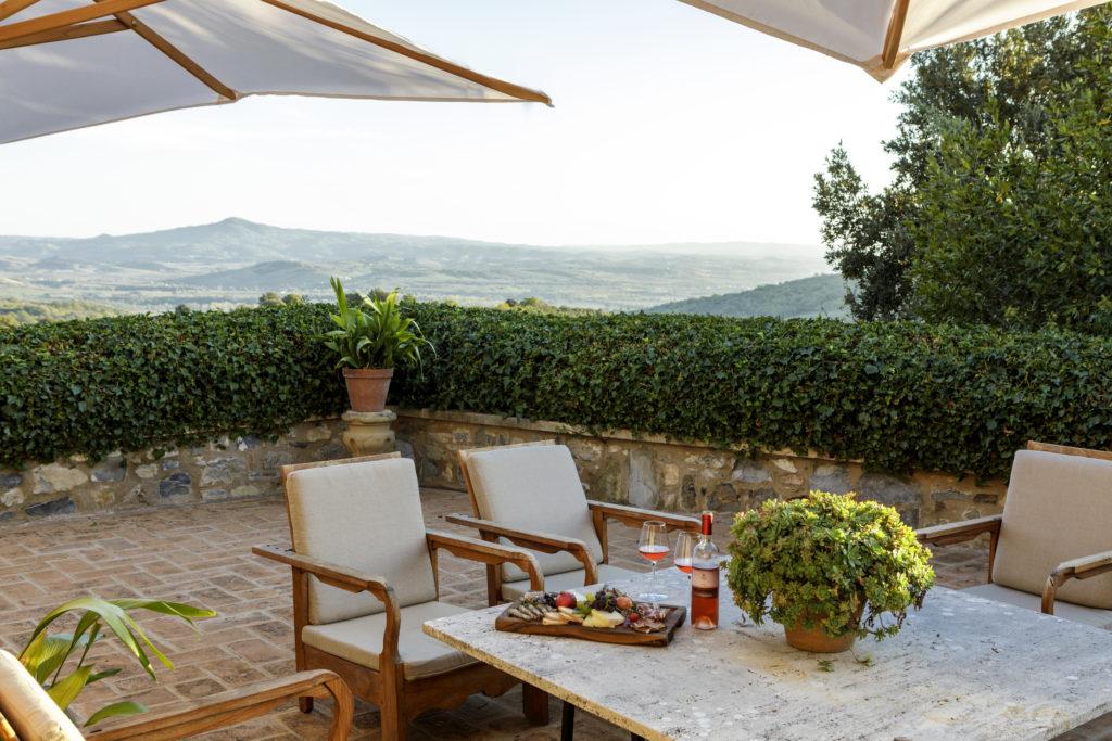 Chiesina private terrace