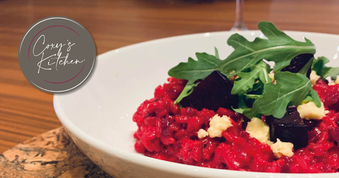 Roast Beetroot Risotto with Wensleydale Cheese