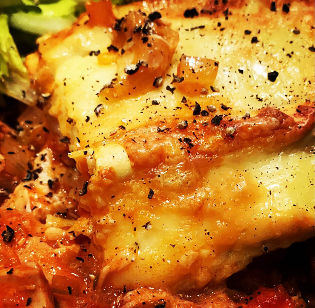 Chicken and Chorizo Lasagne recipe