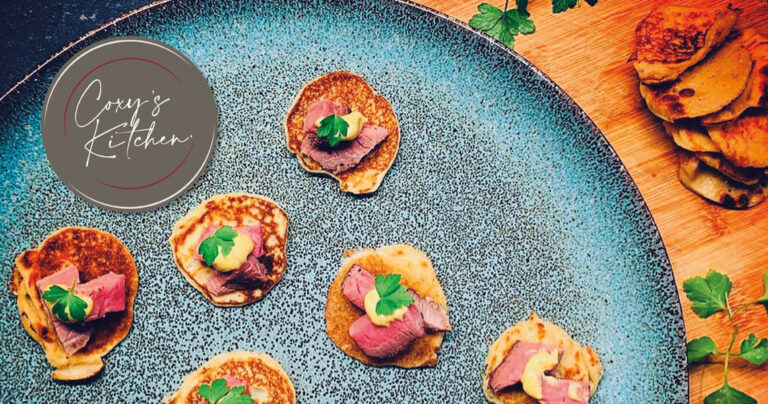 Roast Beef and Mustard Blinis
